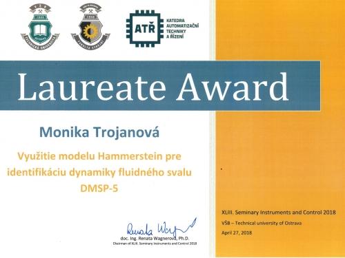 Laureate Award, STOČ 2018