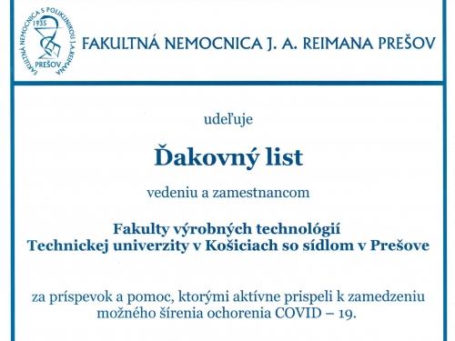 FNsP J. A. Reimana Prešov