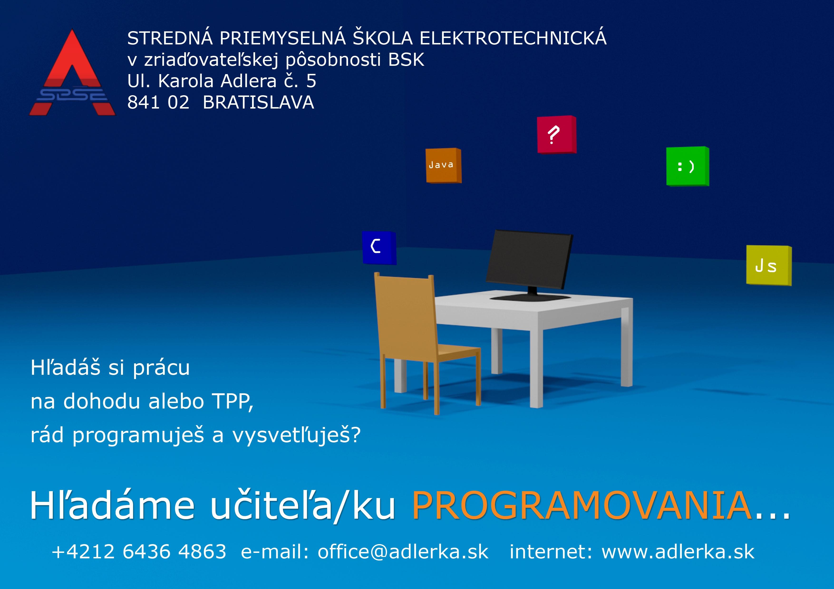Učiteľ programovania/informatiky