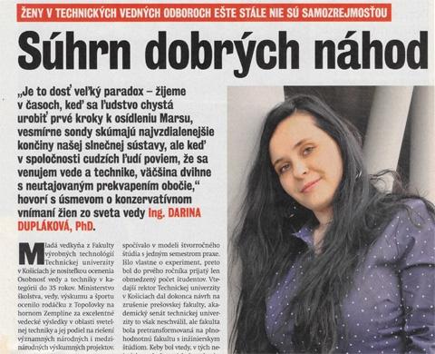 Ing. Darina Dupláková, PhD.